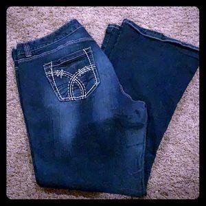 Gently Worn Dark Wash Boot Cut Jeans